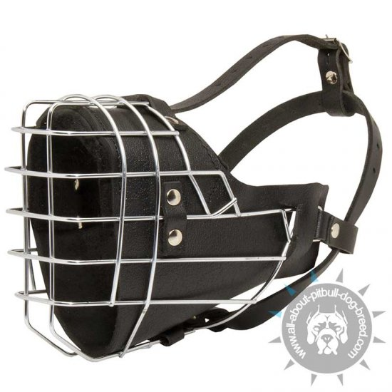 Specialized Metal Basket Dog Muzzle with Overall Padding