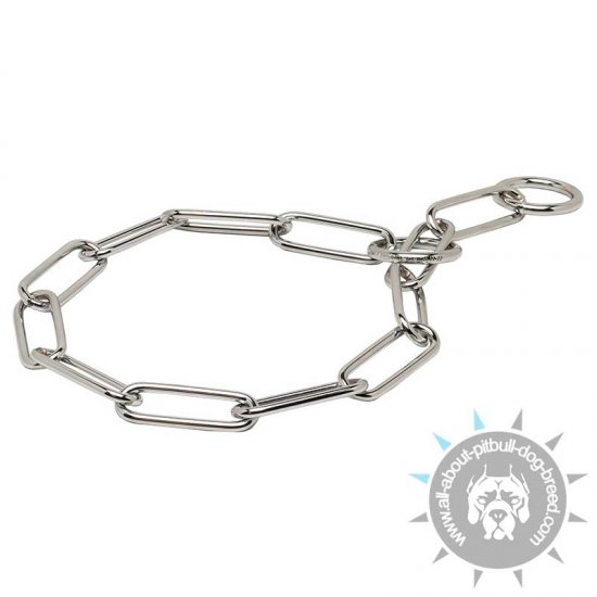 Excellent Fur Saver Collar of Chrome Plated Steel - 1/6 inch (4.0 mm)