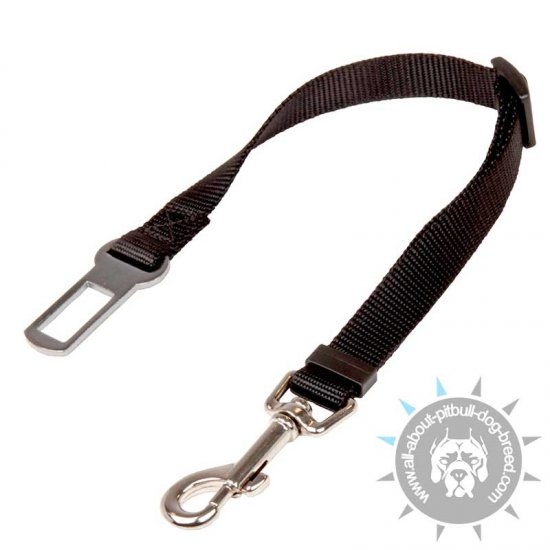'Conscious Passenger' Nylon Pitbull Car Safety Seat Belt