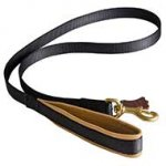 Nylon Pitbull Leash with Nappa Padded Handle(3/4 inch wide)