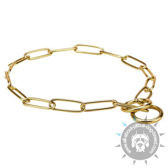 'Chain Protector' Brass Fur Saver Collar - 1/9 inch (3 mm) link diameter
