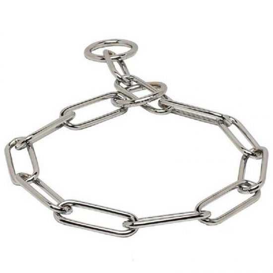 'Iron Trainer' Fur Saver Collar of Stainless Steel - 1/6 inch (4.0 mm) link diameter