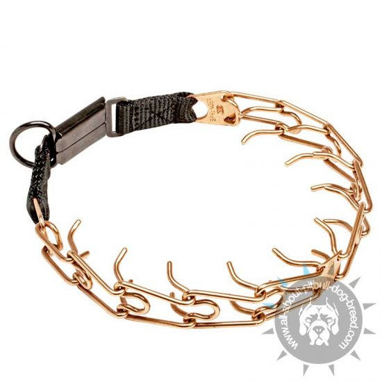 'Briar Patch' Curogan Pinch Collar with Click Lock Buckle - 1/8 inch (3.25mm )