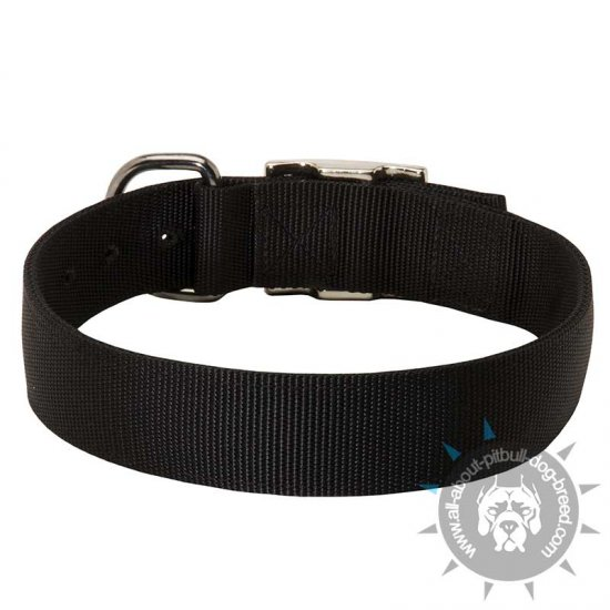 Durable Nylon Pitbul Collar -Classic Most Popular Buckle Dog Collar