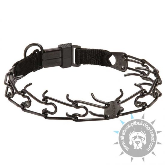 HS Black Pinch Collar with Click Lock System - 1/8 inch (3.2 mm)