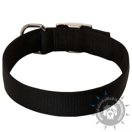 Wide Nylon Dog Collar for Pitbull-1.5 inch wide