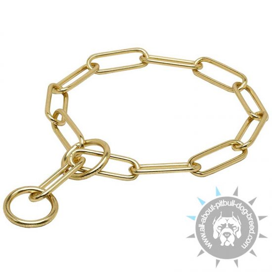 "Brass Choke Collar ""Chain Trainer"" Fur Saver - 1/6 inch (4 mm)"
