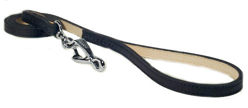Handcrafted leather dog leash for walking-Length 39 inch-L10ST