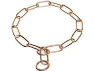 """Chain Trainer"" Brass Pitbull Choke Chain - 1/6 inch (4 mm)"