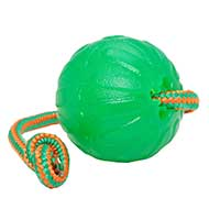 """Roll and Throw"" Chew Rubber Ball on a String"