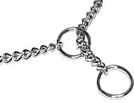 Chrome Plated Chain Show Dog Choke Collar 1/25 inch (1mm) for Pitbull