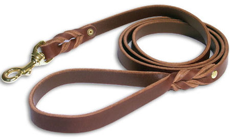 Durable Leash made of Leather for Pitbull
