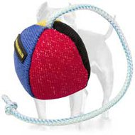 French Linen Bite Toy on Rope for Pitbull Training