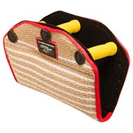 Jute Bite Builder with 3 Inside Handles for Pitbull Puppy Training