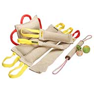 Full Set of Training Jute Bite Tugs + 3 Dog Toys (free gifts)