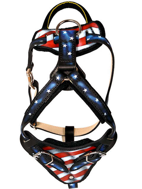 Patriotic Dog Harness for Pitbull