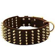 3 inch Spiked Leather Dog Collar for Pitbull