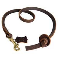 Leather Dog Leash Pull Tab for Pitbull Obedience Training