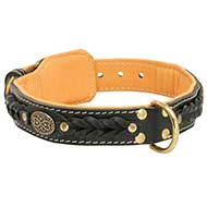Handcrafted Leather Dog Collar for Pitbull