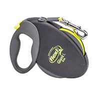 'Easy Walking' Retractable Nylon Leash with 2 Modes of Braking System for Puppies and Young Dogs