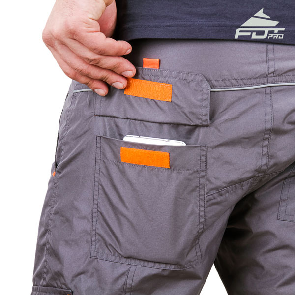 Convenient Design Professional Pants with Reliable Side Pockets for Dog Training