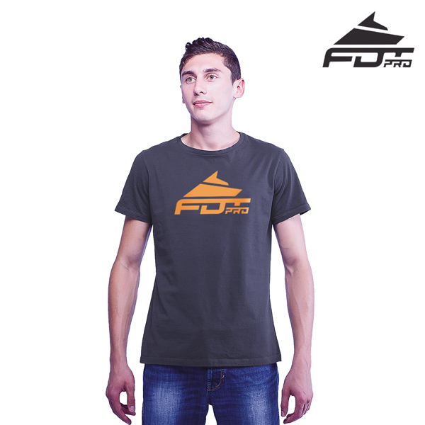 High Quality Cotton FDT Pro Men T-shirt Dark Grey Color