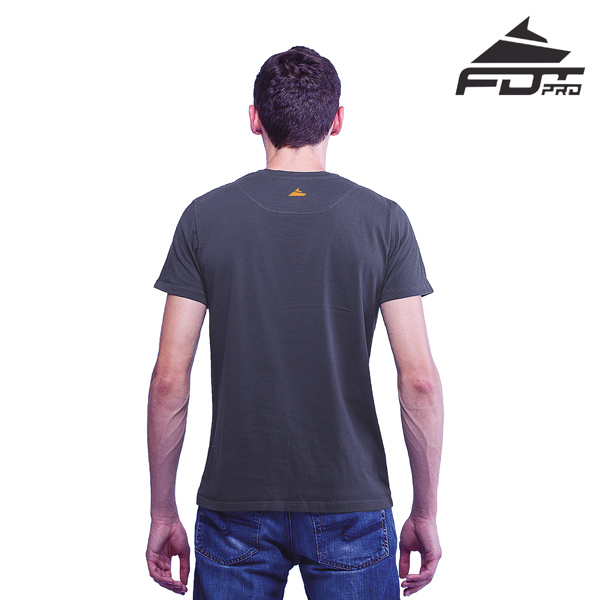Men T-shirt Dark Grey Professional for Dog Walking