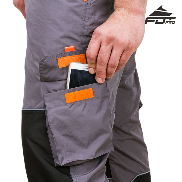 Pro Design Dog Training Pants with Comfortable Velcro Side Pocket