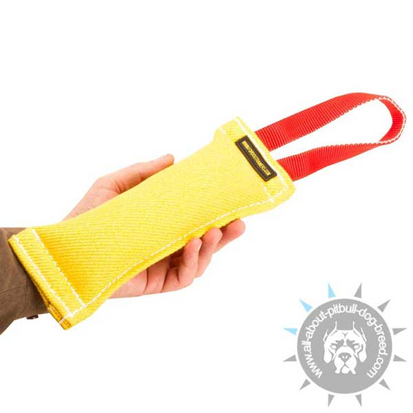Puppy French Linen Bite Toy Tug for Pitbull Training