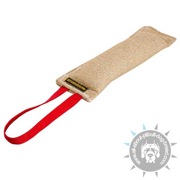 Pitbull Jute Bite Tug with One Handle