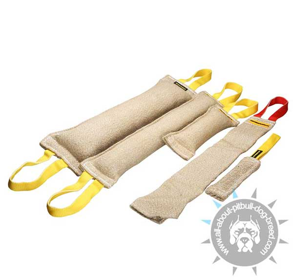 Pitbull Training Set of 5 Jute Bite Tugs