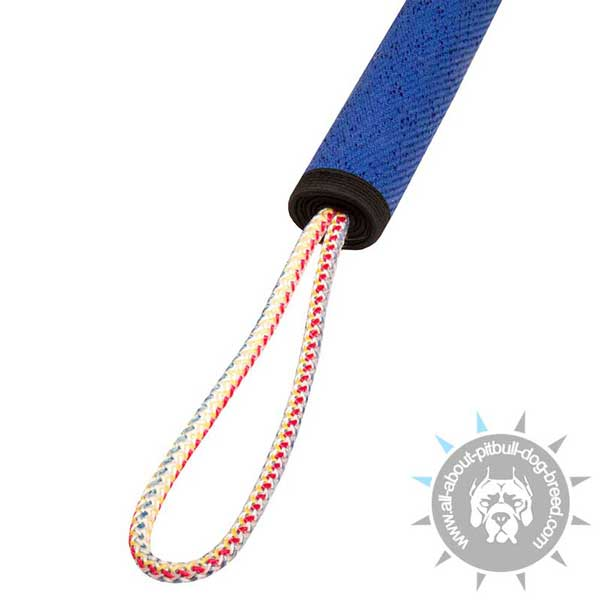 French Linen Pitbull Play Roll with Strong Rope Handles