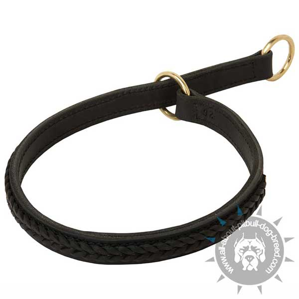 Finest leather choke collar