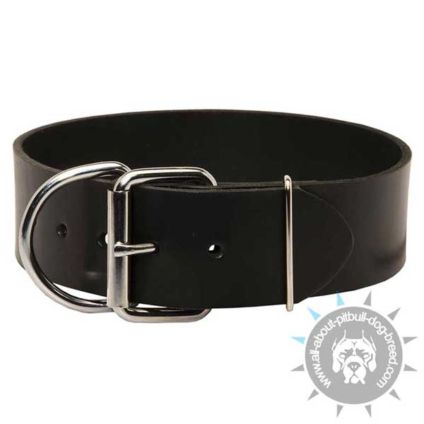 Better control your pet with this reliable leather Pitbull collar