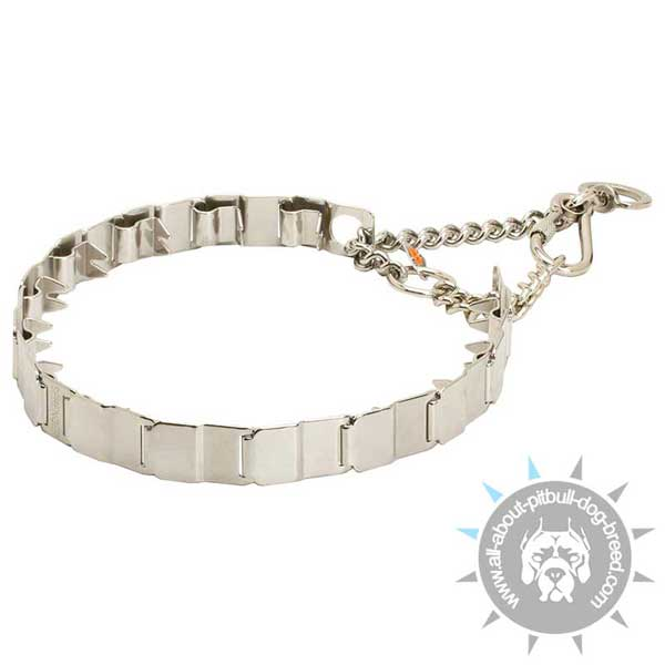 Metal Neck Tech Prong Pitbull Collar for Training