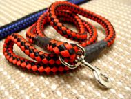 "Cord nylon dog leash for large dogs -4/5"" on 5 foot NYLON LEASH"