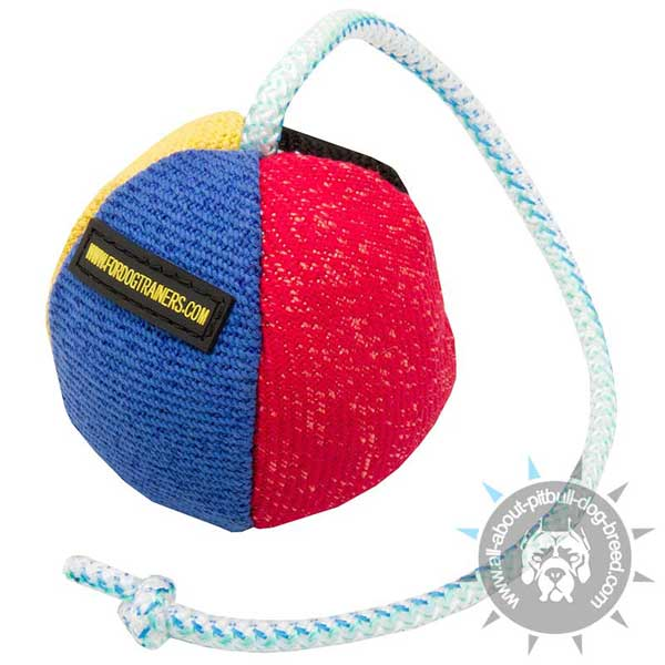 French Linen Ball for Pitbull Training