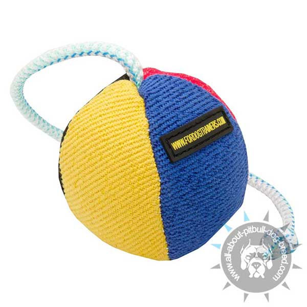 French Linen Toy on Rope for Training Pitbull