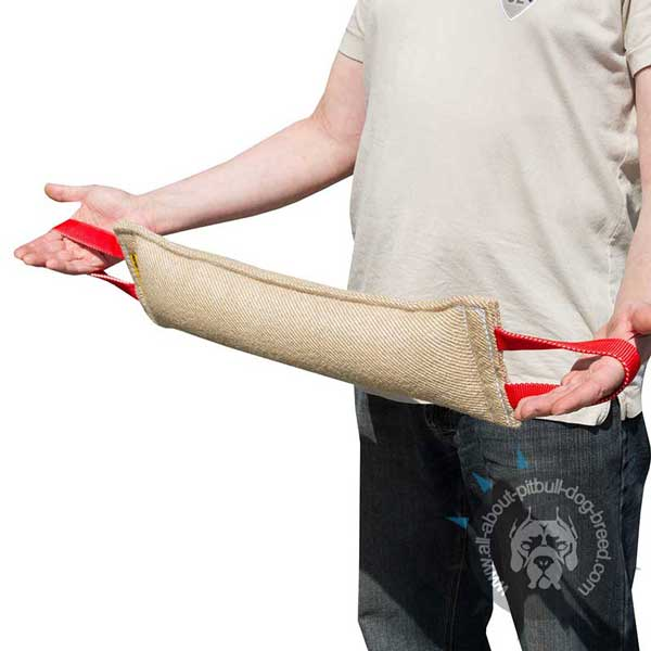 Pitbull Jute Bite Tug with 2 Handles