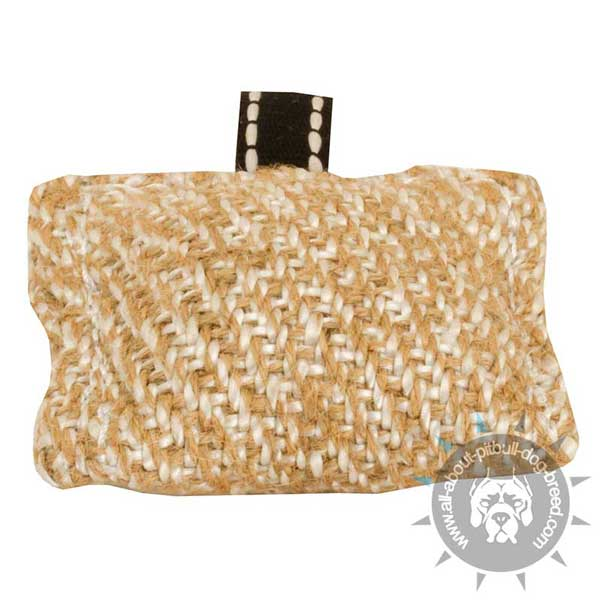 Puppy Bite Jute Tug with Small Handle