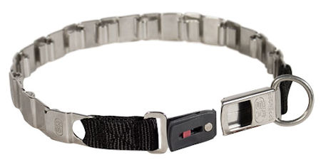 HS Stainless Steel Pitbull Neck Tech Collar