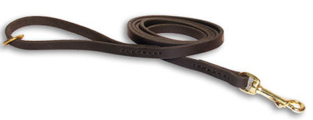 Leather dog leash for walking, tracking