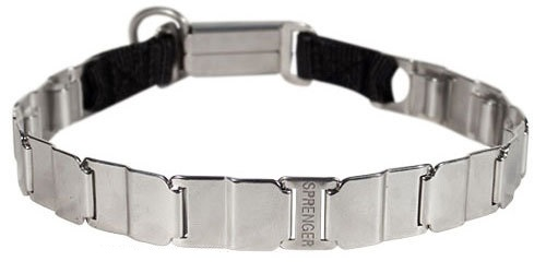 Stainless Steel Pitbull Neck Tech Pinch Collar - 19 inch (48 cm)