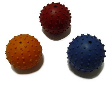 Dotted Rubber Dog Ball with Bell