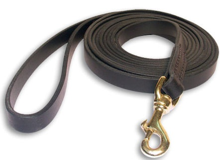 Tac-Black Leather Classic Agitation Leads for Pitbull