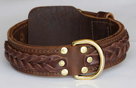 WESTERN DESIGNER CUSTOM LEATHER DOG COLLARS for Pitbull