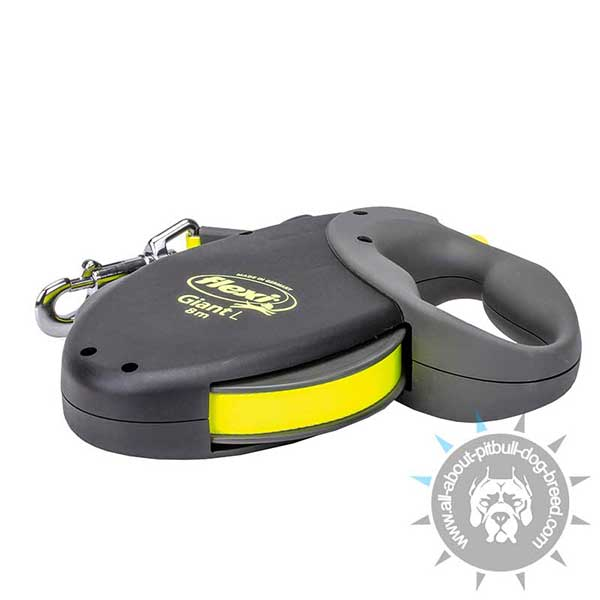 Reflexive Nylon Dog Leash Ultra Bright Yellow