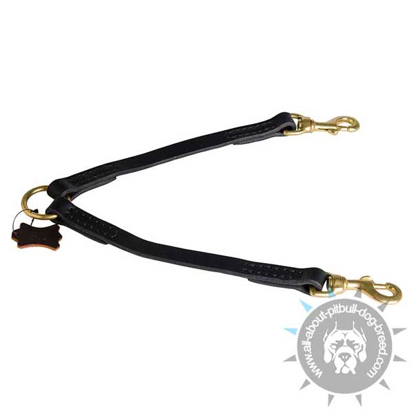 Comfy Leather Coupler for Pitbulls