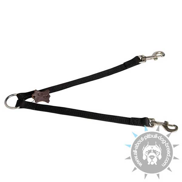 Nylon Pitbull Coupler for Walking 2 Dogs