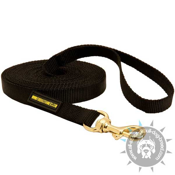 Water Resistant Nylon Pitbull Leash for Training Purposes